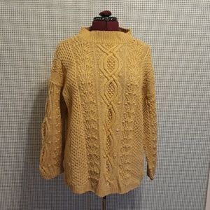 Express gold cable knit sweater